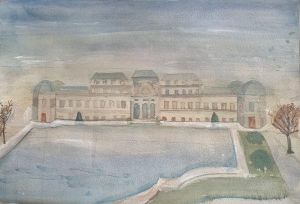Watercolor painting - Belvedere