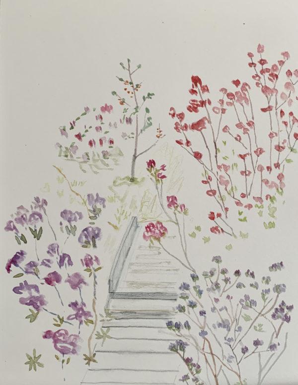 Watercolor painting - Azaleas