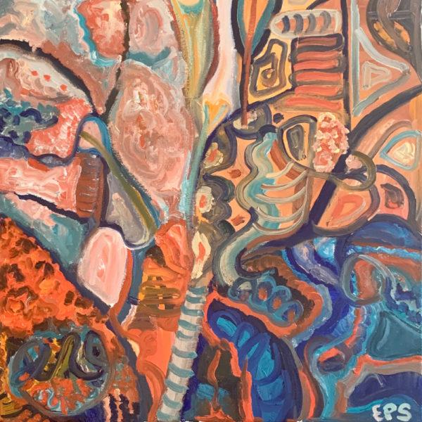 La favorita del rei (40 x 40 oil on cavas)