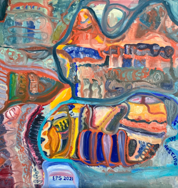 La Forza del Destino (80 x 80 oil on canvas)