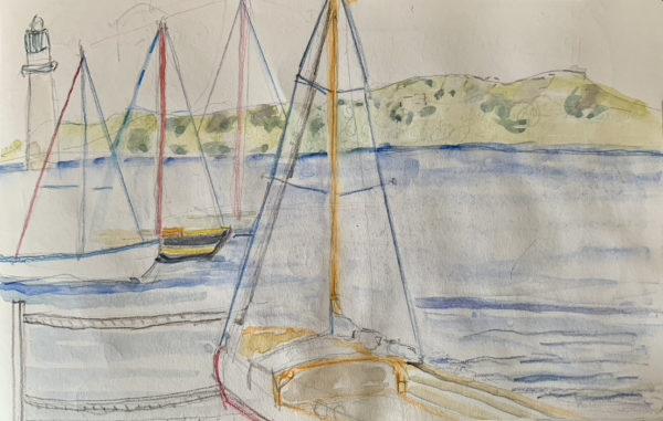 Watercolor painting - Trieste